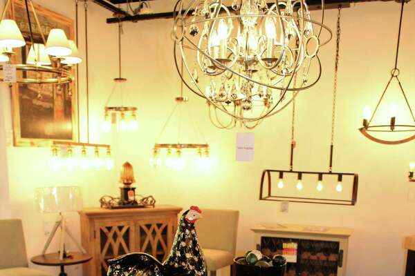 A display at the new lighting and home decor store.