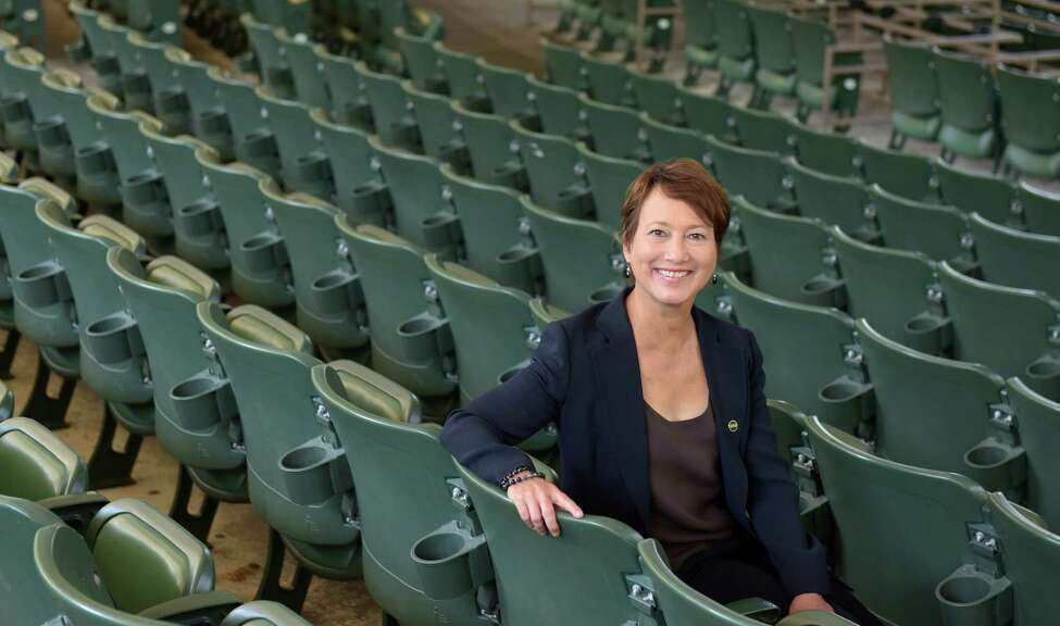 Elizabeth Sobol, the president and CEO of the Saratoga Performing Arts Center, poses for a photo at SPAC on Thursday, August 18, 2016, in Saratoga Springs, N.Y. (Paul Buckowski / Times Union)
