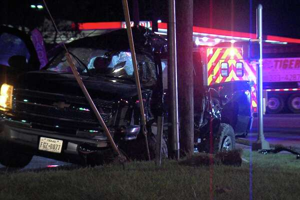 The driver was traveling southbound on a Loop 410 access road at Ray Ellison Boulevard about 4:20 a.m. when they ran the light and collided with an SUV.