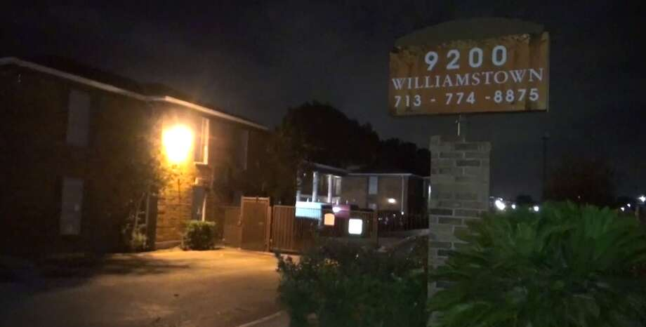One man was killed and a second was shot in the chest after shots were fired overnight in southwest Houston. (Metro Video) Photo: Metro Video