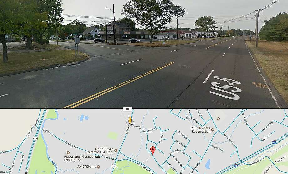 This Google Street View image shows the intersection where a Edward Carabillo, 90, of Darien, was killed in a two-vehicle accident on Sunday, Oct. 14, 2017. The front seat passenger in the Carabillo's Audi, Natalie Einson, age 82, was transported to Yale New Haven Hospital where she is being evaluated for non-life-threatening injuries. The accident happened on South Colony Road. Photo: Google Images