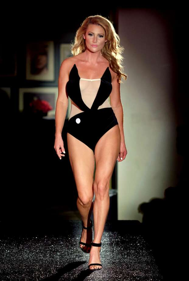 Gia Marie walks the runway for Yandy's Annual Halloween Fashion Show at Playboy World Headquarters on October 12, 2017 in Beverly Hills, California. Photo: Matthew Simmons/Getty Images