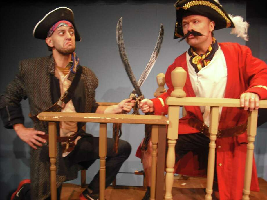 """The Sheldon Vexler Theatre's staging of """"Peter and the Starcatcher"""" was one of the big winners at Sunday's Globe Awards, receiving 11 awards. John Stillwaggon (right, with castmate Andrew Olmos) was one of the performers recognized as best lead actor in a comedy. Photo: Courtesy Sheldon Vexler Theatre /Courtesy Sheldon Vexler Theatre"""