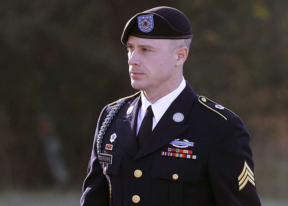 FILE - In this Jan. 12, 2016, file photo, Army Sgt. Bowe Bergdahl arrives for a pretrial hearing at Fort Bragg, N.C.   Bergdahl will appear before a judge, Monday, Oct. 16, 2017,  to enter an expected guilty plea to charges that he endangered comrades by walking off his remote post in Afghanistan in 2009. (AP Photo/Ted Richardson, File) Photo: Ted Richardson, FRE / Associated Press / FR83921 AP