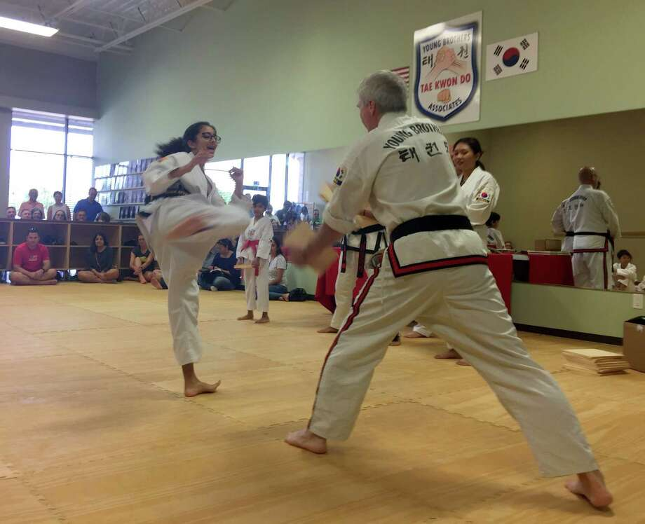 Young Brothers Taekwondo Schools in Pittsburgh and Houston raised more than $60,000 for Houston Food Bank via their Break-a-Thon events for the victims of Hurricane Harvey. Photo: Courtesy Photo