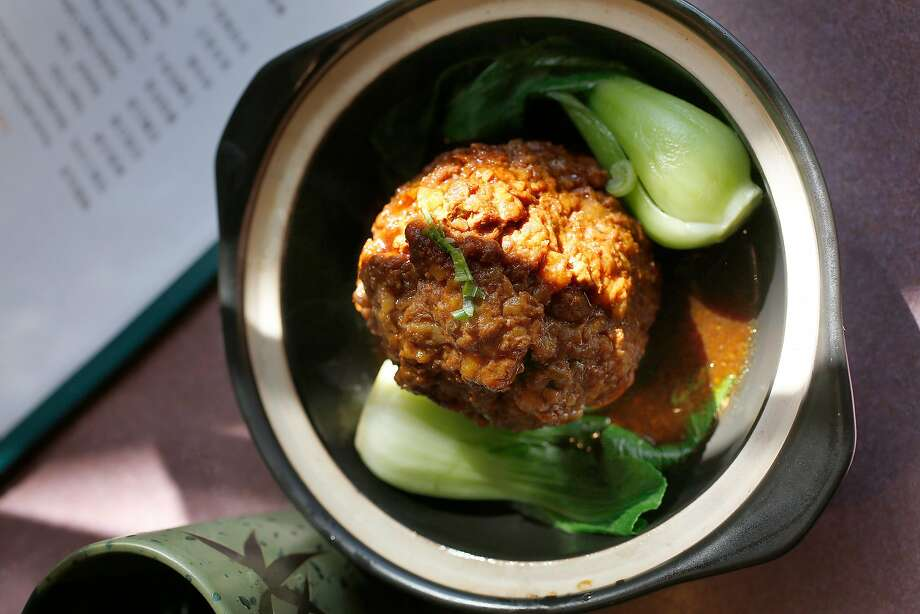 Lion's head meatball at Jiangnan Cuisine. Photo: Liz Hafalia, The Chronicle