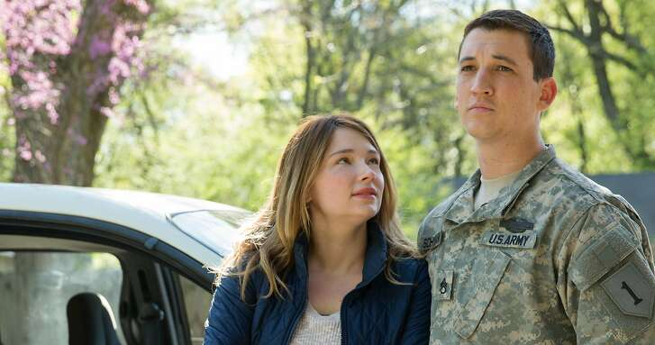 """Saskia (HALEY BENNETT) and Adam Schumann (MILES TELLER) in DreamWorks Pictures' """"Thank You for Your Service."""" The drama follows a group of U.S. soldiers returning from Iraq who struggle to integrate back into family and civilian life, while living with the memory of a war that threatens to destroy them long after they've left the battlefield."""