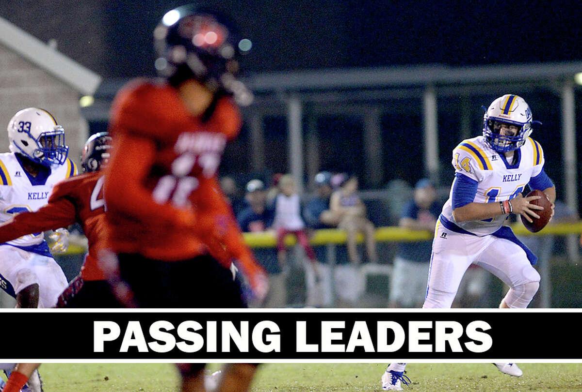 High School Football: Area passing leaders through Week 7. (Kim Brent/The Enterprise)