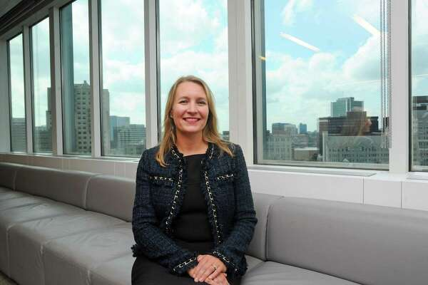 Heather Ziegler, managing partner of Deloitte's Stamford offices, poses for a photo inside the firm's East Main Street office in downtown Stamford, Conn., on Thursday, Sept. 7, 2017.