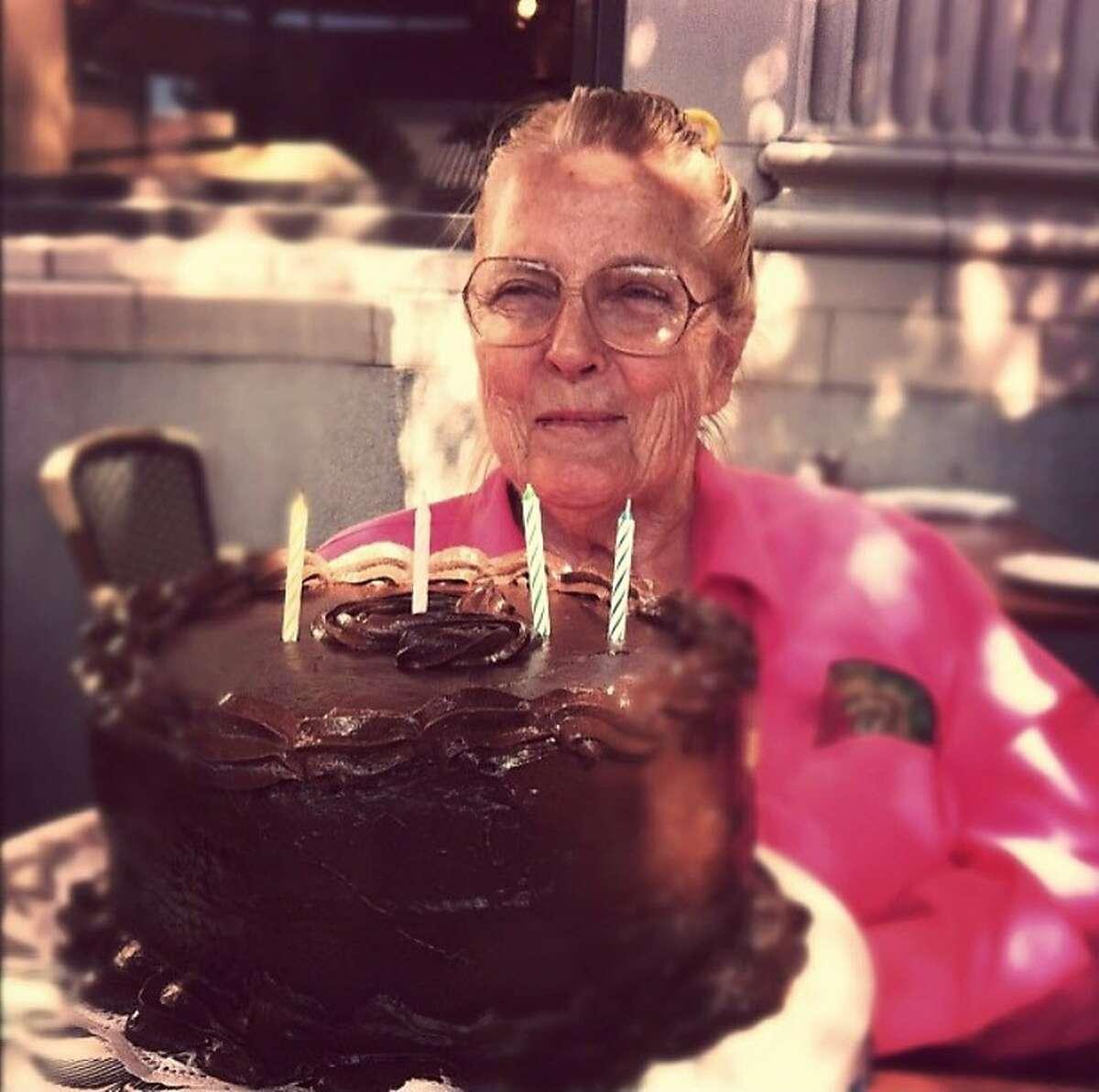 Sally Eaves Lewis, 90, died in the Atlas Peak Fire on October 8, 2017.