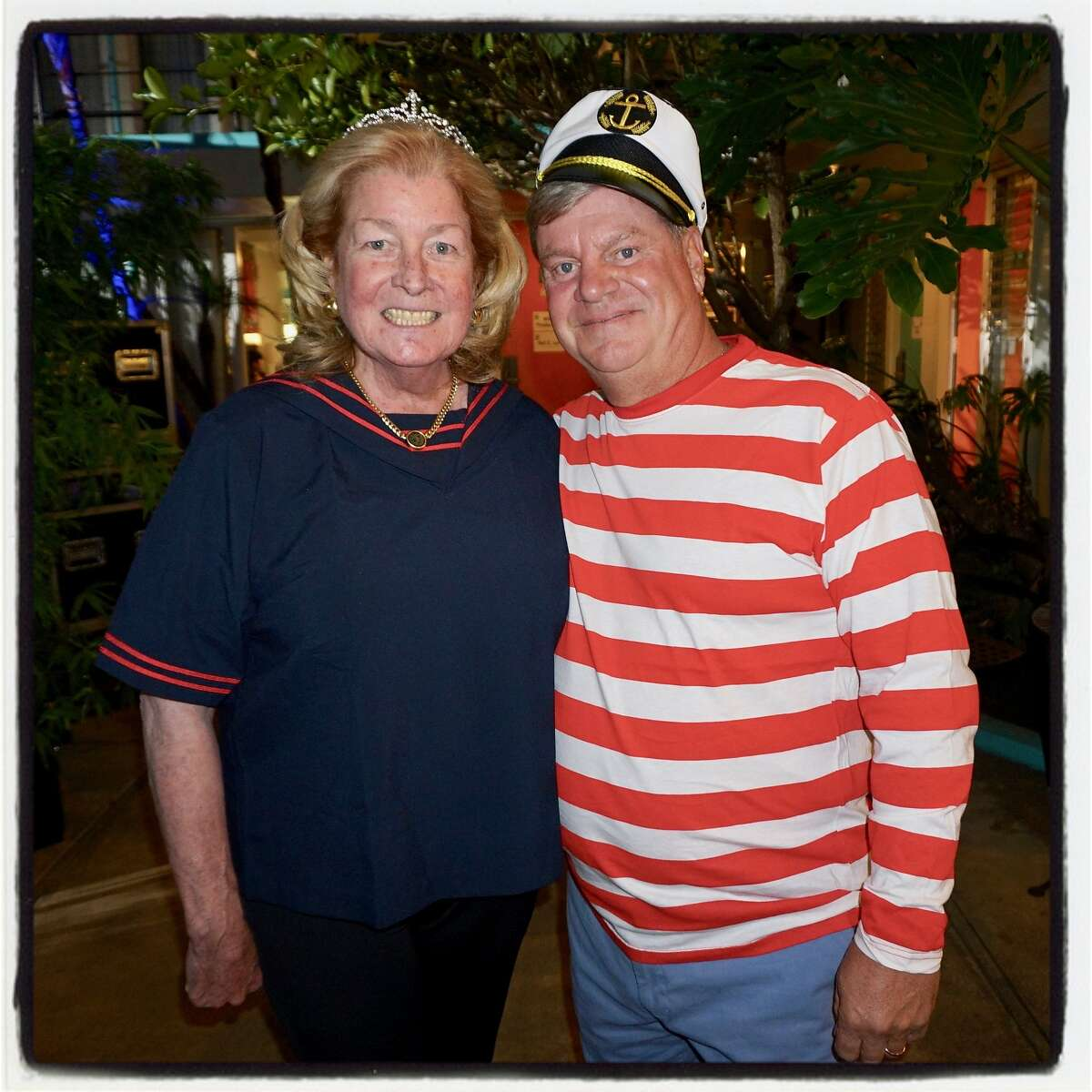 Bonhams chairman Laura King Pfaff and philanthropist Jim Losi celebrated their years of chairing the Pool Toss at the Phoenix Hotel. Oct. 11, 2017.