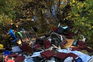 Photo of the illegal dumping last week on George Hull Hill Road in Redding.