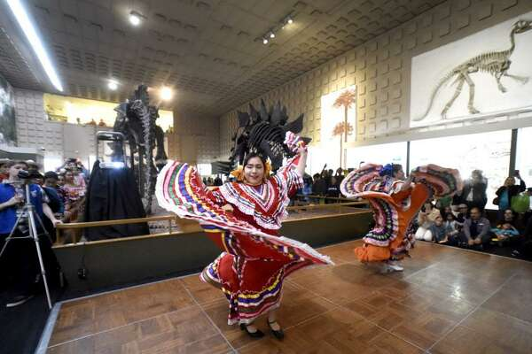New Haven, Connecticut - Saturday, October 14, 2017: Dancers of the Ballet Folklorico Mexicano de Yale perform during the 15th annual  Fiesta Latina, a celebration of Latino cultures sponsored by the Yale Peabody Museum and Junta for Progressive Action, Inc. that highlights artistic traditions from all of Latin American, combining entertainment and education through music, dance and storytelling.