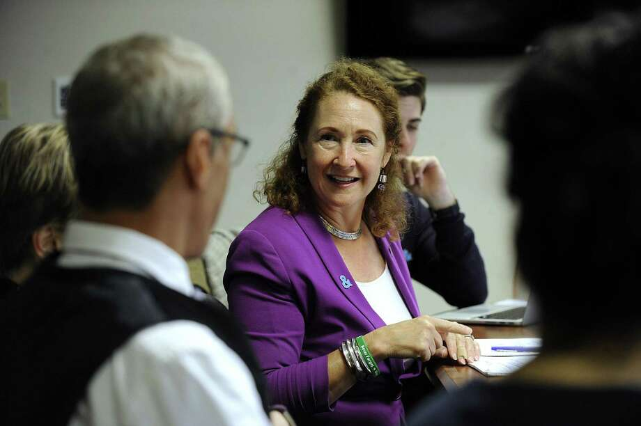 Congresswoman Elizabeth Esty participates in an LGBTQ+ roundtable discussion at Western Connecticut State University Monday, Oct. 16, 2017. Photo: Carol Kaliff / Hearst Connecticut Media / The News-Times