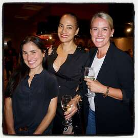 Zem Joaquin (left) with Gina Pell and Amy Parker at Benihana. Oct. 13, 2017.