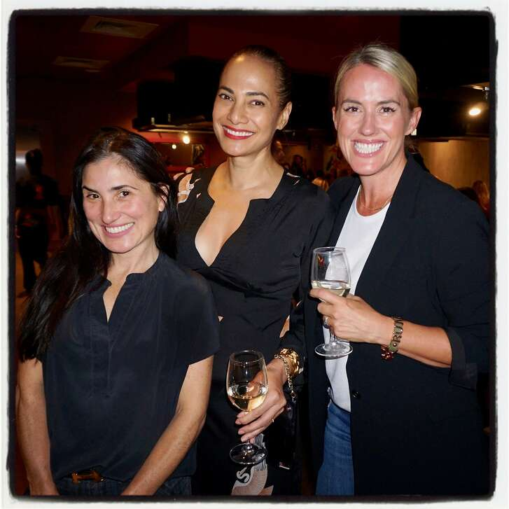 Zem Joaquin (left) with Gina Pell and Amy Parker at Benihana. Oct. 13, 2017.