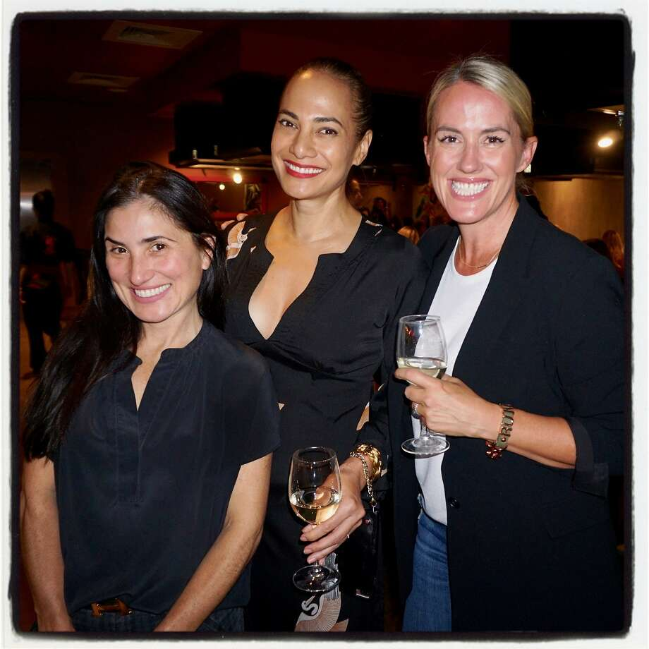 Zem Joaquin (left) with Gina Pell and Amy Parker at Benihana Oct. 13, 2017 for a birthday party-turned-fires fundraiser. Photo: Catherine Bigelow, Special To The Chronicle