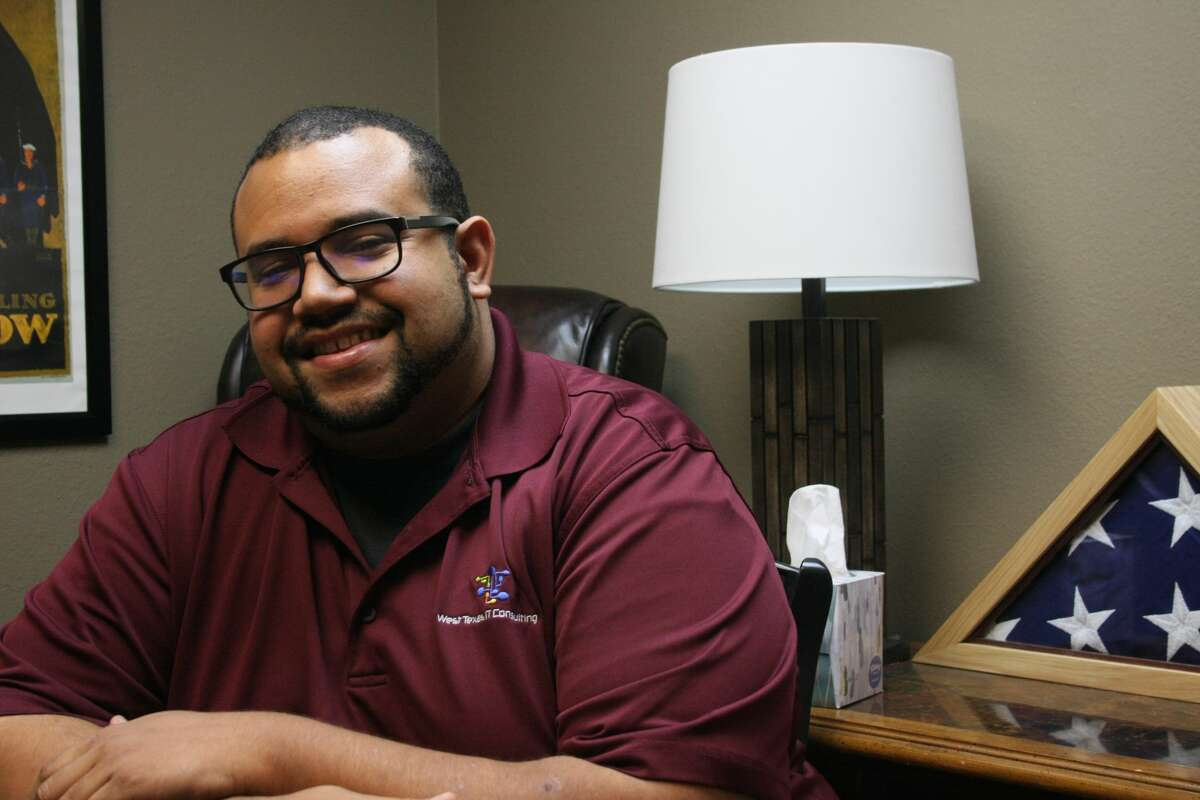 Andry Diaz, 30, is a technical lead for West Texas IT Consulting and manages a team composed of two technicians and himself.T