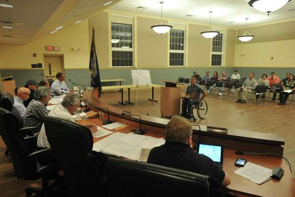 Doug Henry speaks to the Torrington Planning and Zoning Commission about creating a brewery.