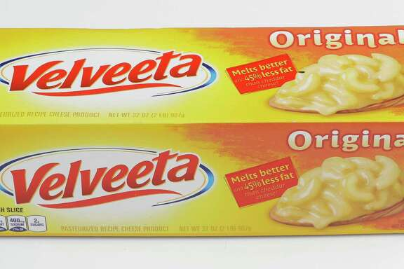 A box of Velveeta is shown Thursday, Oct. 12, 2017, in Houston.  ( Melissa Phillip / Houston Chronicle )