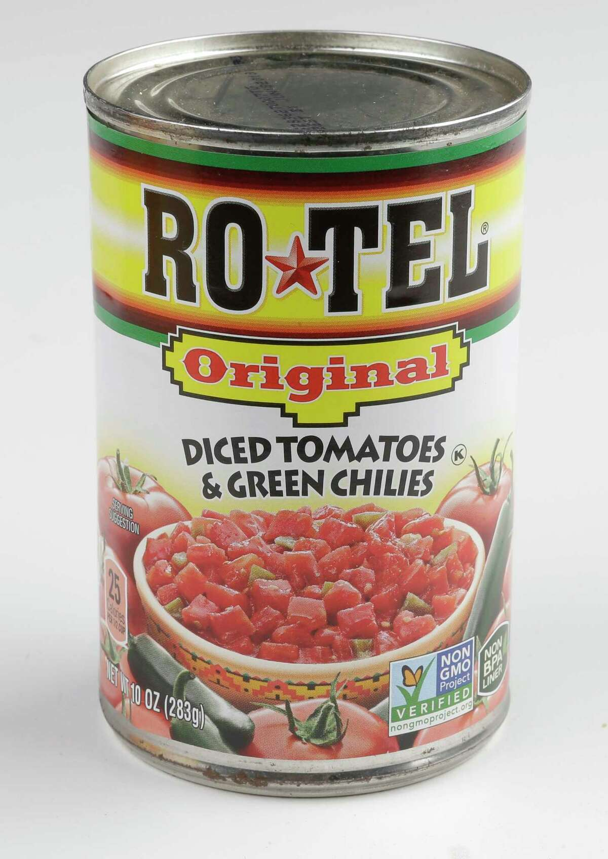A can of Rotel is shown Thursday, Oct. 12, 2017, in Houston. ( Melissa Phillip / Houston Chronicle )