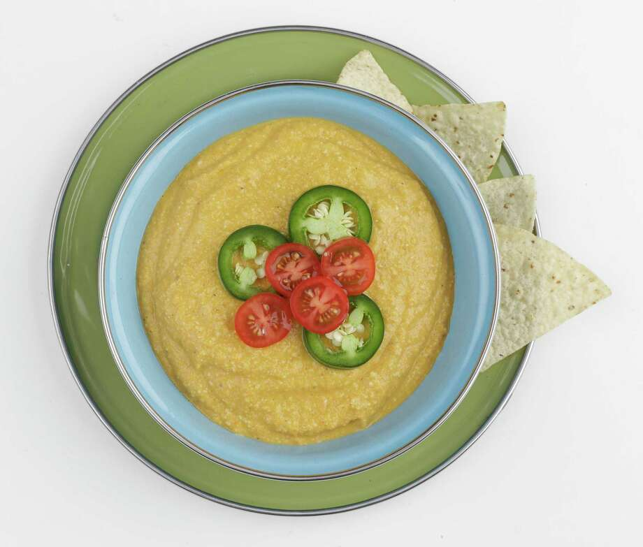 Creamy Vegan Queso Dip works well with chips and even better with crudité. Photo: Melissa Phillip, Houston Chronicle / © 2017 Houston Chronicle
