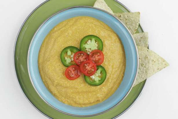 Creamy Vegan Queso Dip works well with chips and even better with crudité.
