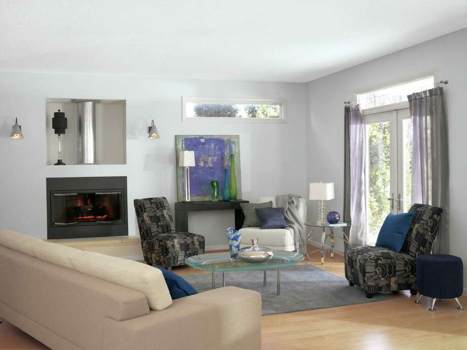 Exceptionnel A Living Room Painted In Sherwin Williamsu0027 Most Popular Paint Color, Gray  Screen
