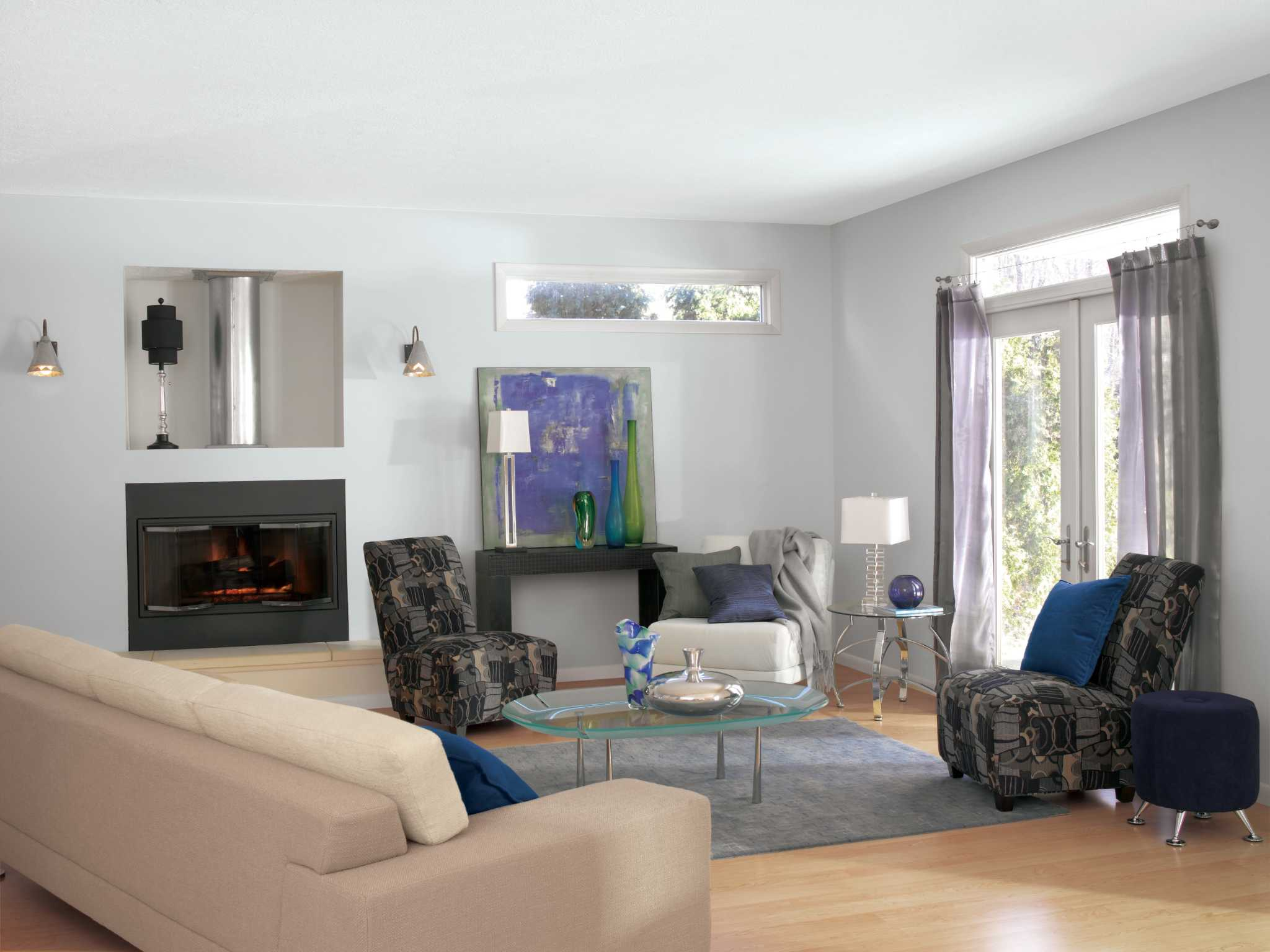 Glidden Smoky Charcoal wading through a sea of paint colors doesn't have to be