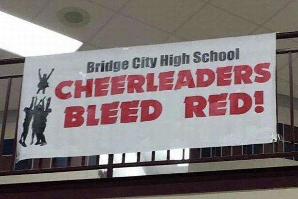 A sign from Bridge City High School is quickly circulating social media sites, drawing national attention. Photo: Facebook