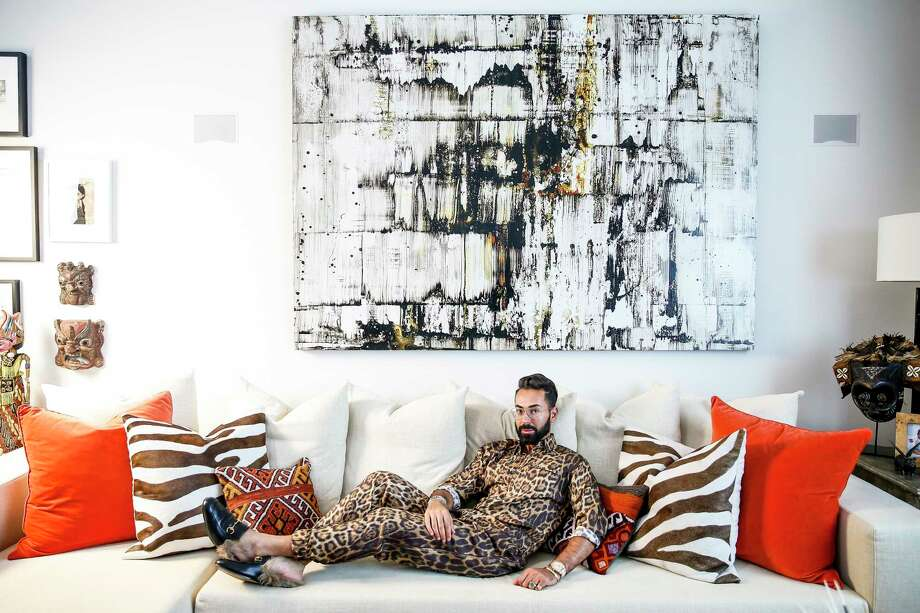 Tootsies fashion director Fady Armanious in his South Central Houston home Thursday, July 27, 2017. ( Michael Ciaglo / Houston Chronicle ) Photo: Michael Ciaglo, Staff / Michael Ciaglo