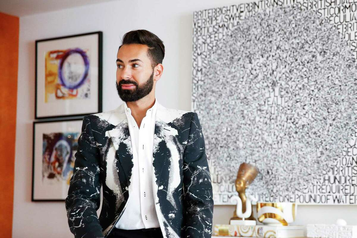 Tootsies fashion director Fady Armanious in his South Central Houston home Thursday, July 27, 2017. ( Michael Ciaglo / Houston Chronicle )