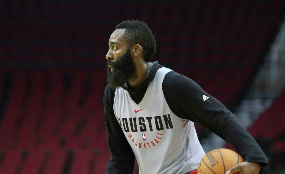 Houston Rockets' James Harden dribbles during the practice game at the fan fest at Toyota Center Saturday, Oct. 7, 2017, in Houston. ( Yi-Chin Lee / Houston Chronicle ) Photo: Yi-Chin Lee, Houston Chronicle / © 2017  Houston Chronicle