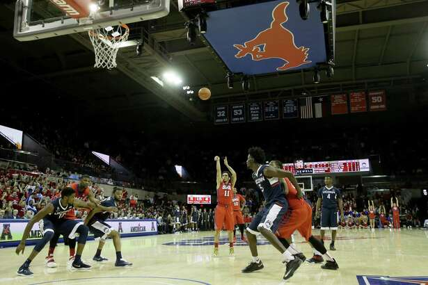 UConn and fellow AAC member SMU will face each other just once in the regular season.