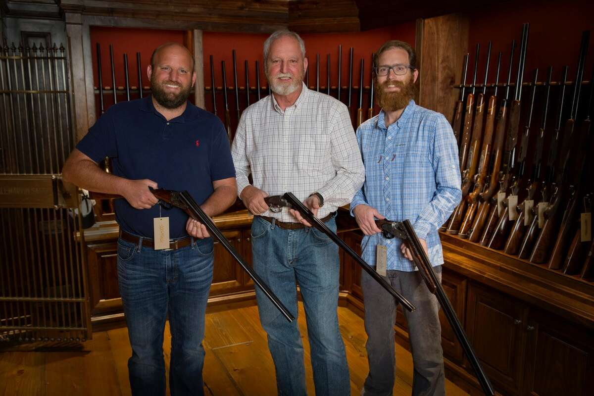 Shaun Gordy, from left, Russell Gordy and Garrett Gordy own Gordy & Sons Outfitters in Houston.