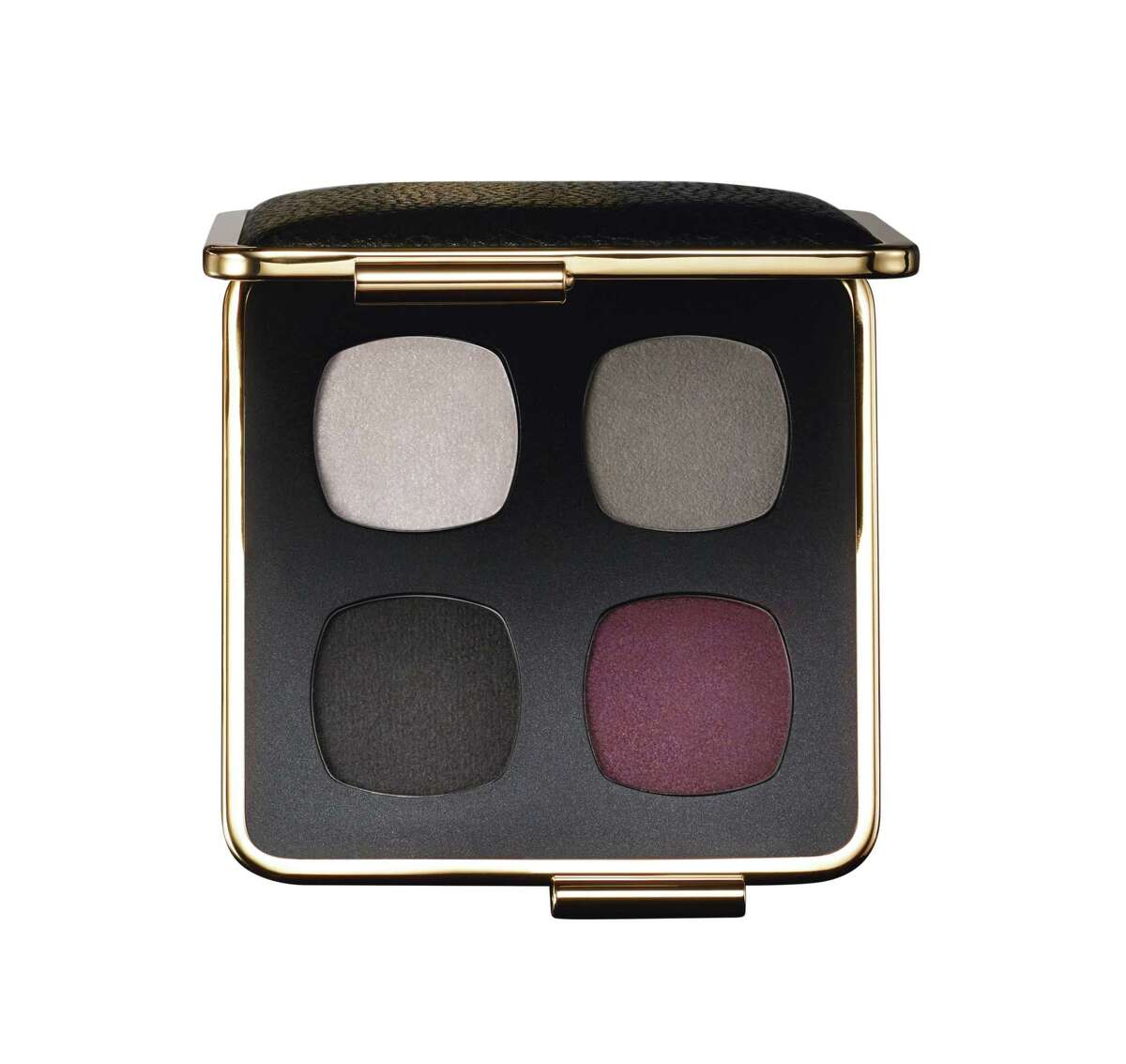Victoria Beckham's second makeup collection for Estee Lauder includes Victoria Beckham Eye Palette is tones of grey smoke and bordeaux.