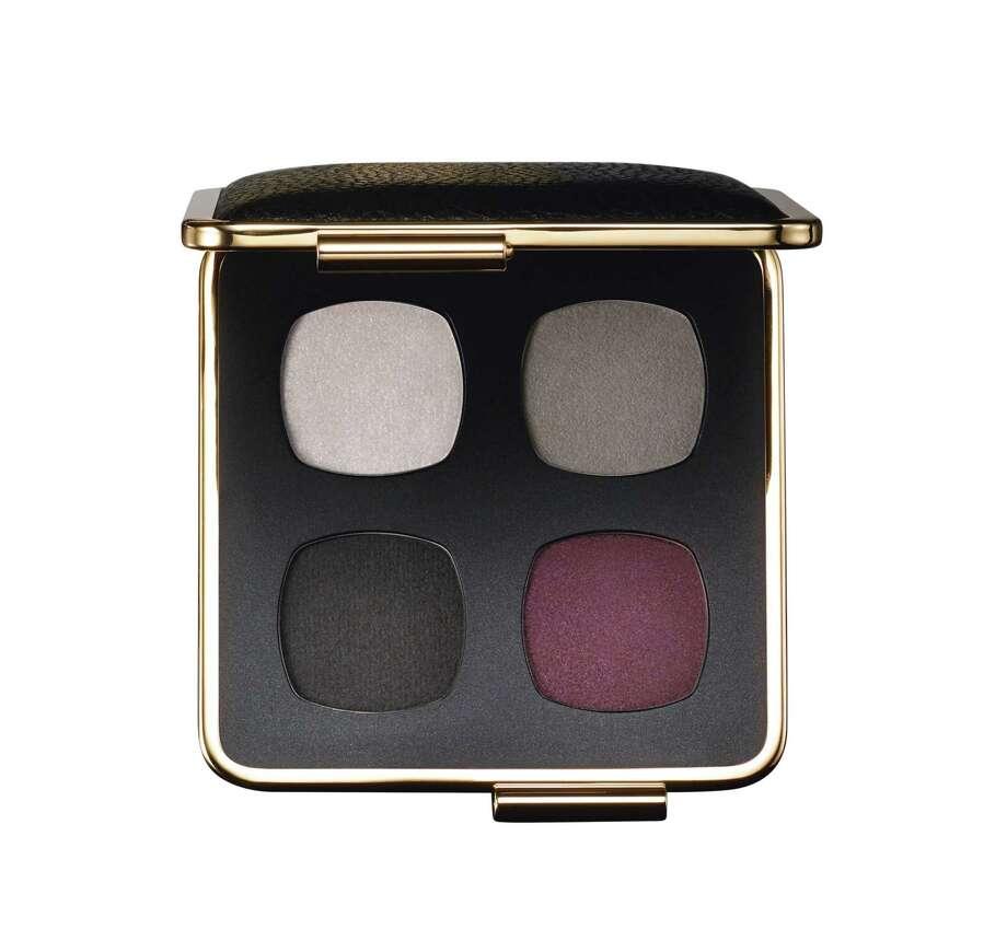 Victoria Beckham's second makeup collection for Estee Lauder includes Victoria Beckham Eye Palette is tones of grey smoke and bordeaux. Photo: Estee Lauder