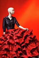 Oscar de la Renta, Custom Evening Ensemble, 2001, silk taffeta and silk satin, Oscar de la Renta Archive, worn by Mica Ertegun to an event celebrating her 40th wedding anniversary to Ahmet Ertegun, 2001.