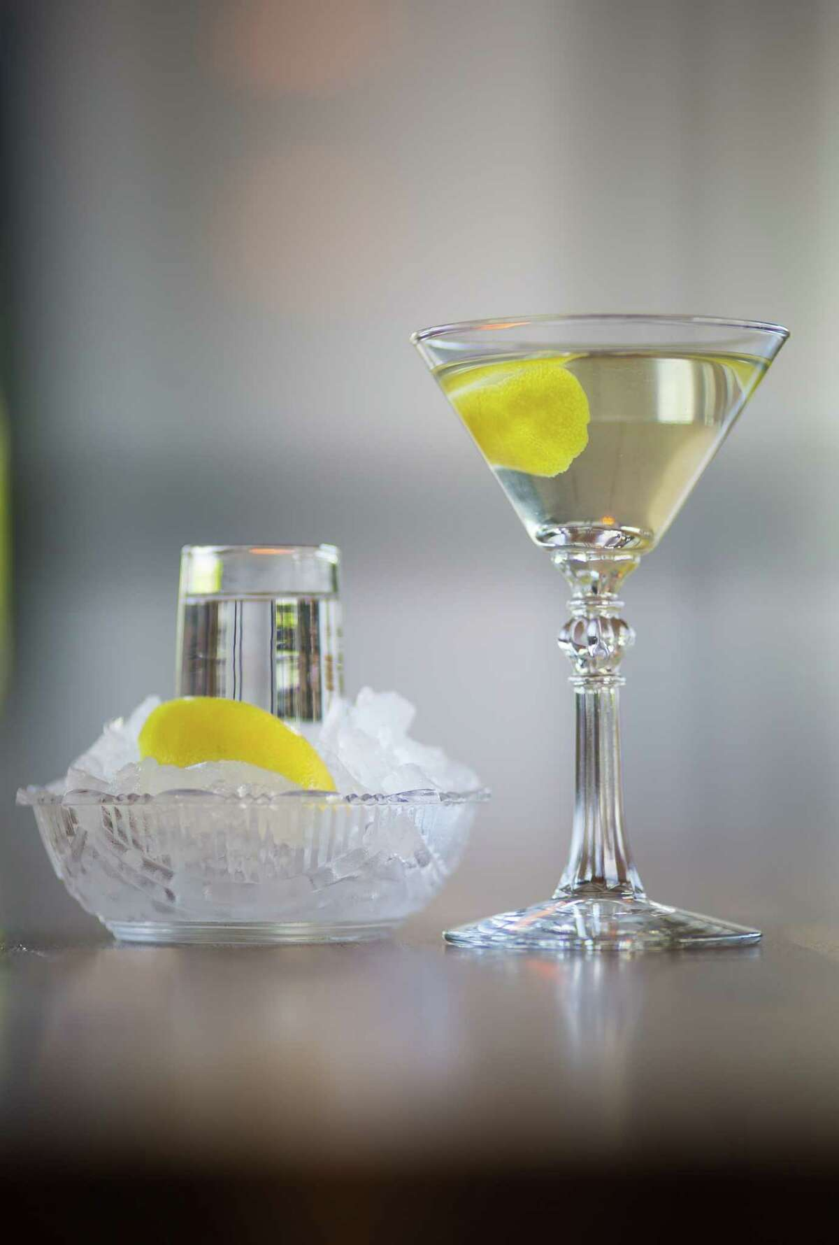 The Star fish martini at Star Fish is made with Fords Gin, extra-dry vermouth and lemon zest.