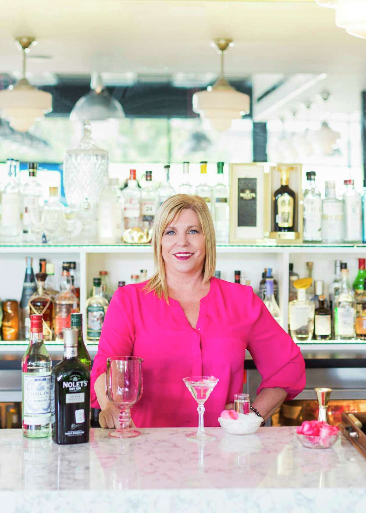 Laurie Harvey, beverage director for Sar Fish, created Nolet's English Garden, a martini made with Nolet's Silver Dry Gin and two types of vermouth.