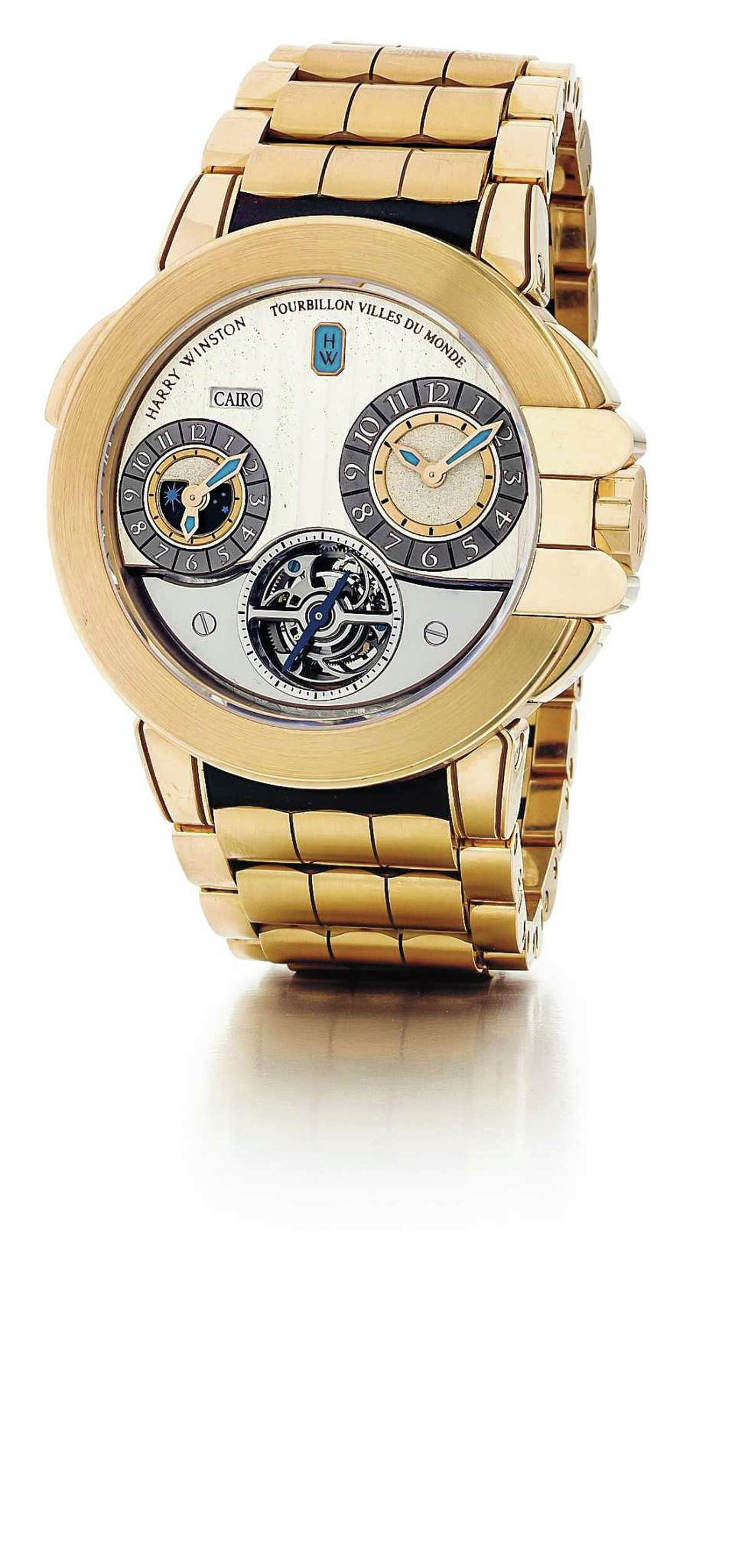 Harry Winston Ocean Tourbillon GMT Traveler is available at Tenenbaum Jewelers in Houston.