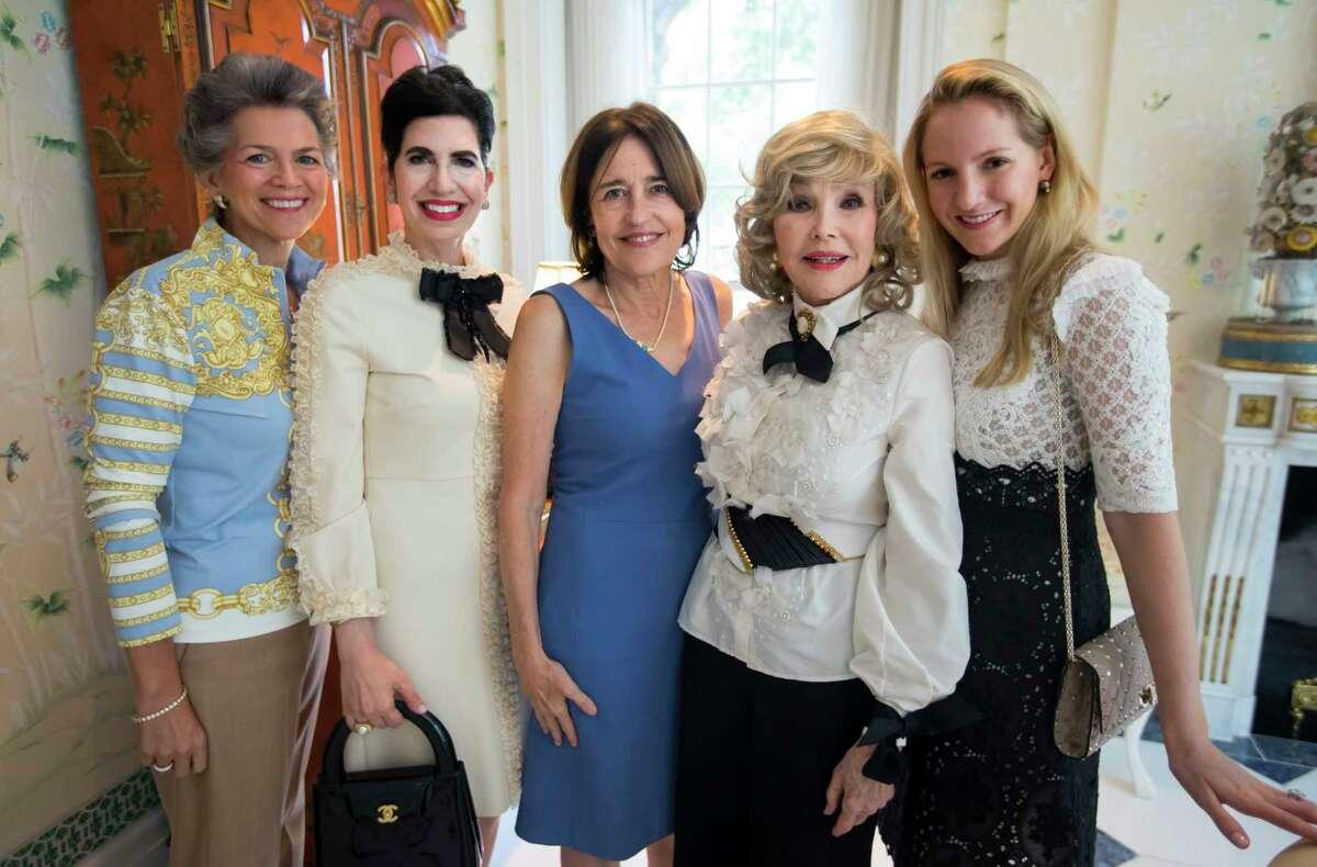 Bain Pearson, Kelli Cohen Fein, Andrea White, Joanne Herring, and Kelli Krohn during a birthday party for Joanne King Herring on Tuesday, Sept. 26, 2017, in River Oaks. (Annie Mulligan / Freelance)