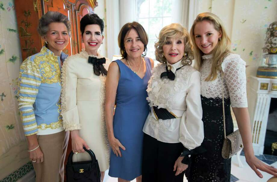 Bain Pearson, Kelli Cohen Fein, Andrea White, Joanne Herring, and Kelli Krohn during a birthday party for Joanne King Herring on Tuesday, Sept. 26, 2017, in River Oaks. (Annie Mulligan / Freelance) Photo: Annie Mulligan, Freelance / @ 2000 Annie Mulligan