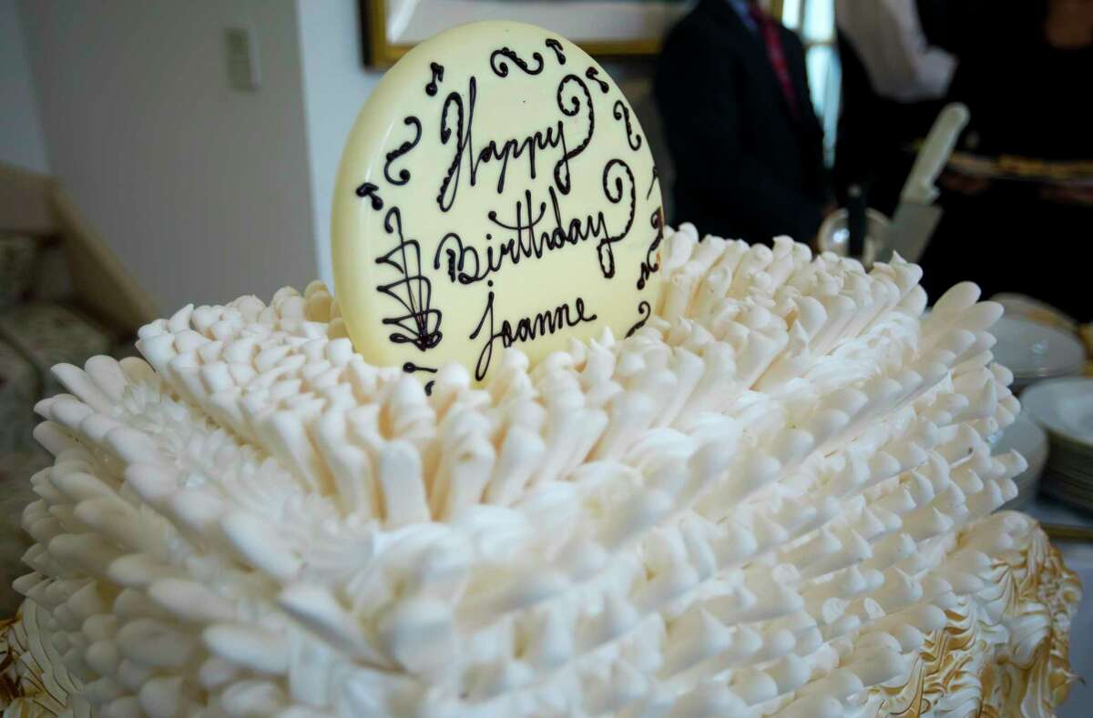 The Baked Alaska birthday cake during a birthday party for Joanne King Herring on Tuesday, Sept. 26, 2017, in River Oaks. (Annie Mulligan / Freelance)
