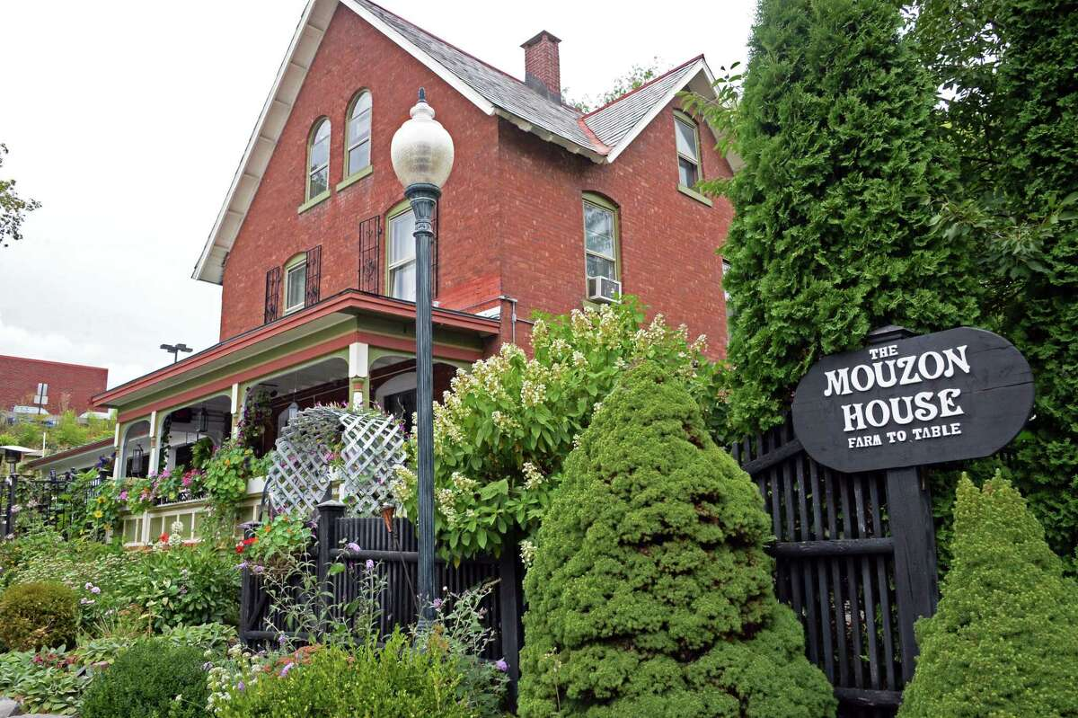 Exterior of the Mouzon House restaurant Thursday Sept. 10, 2015 in Saratoga Springs, NY. (John Carl D'Annibale / Times Union)