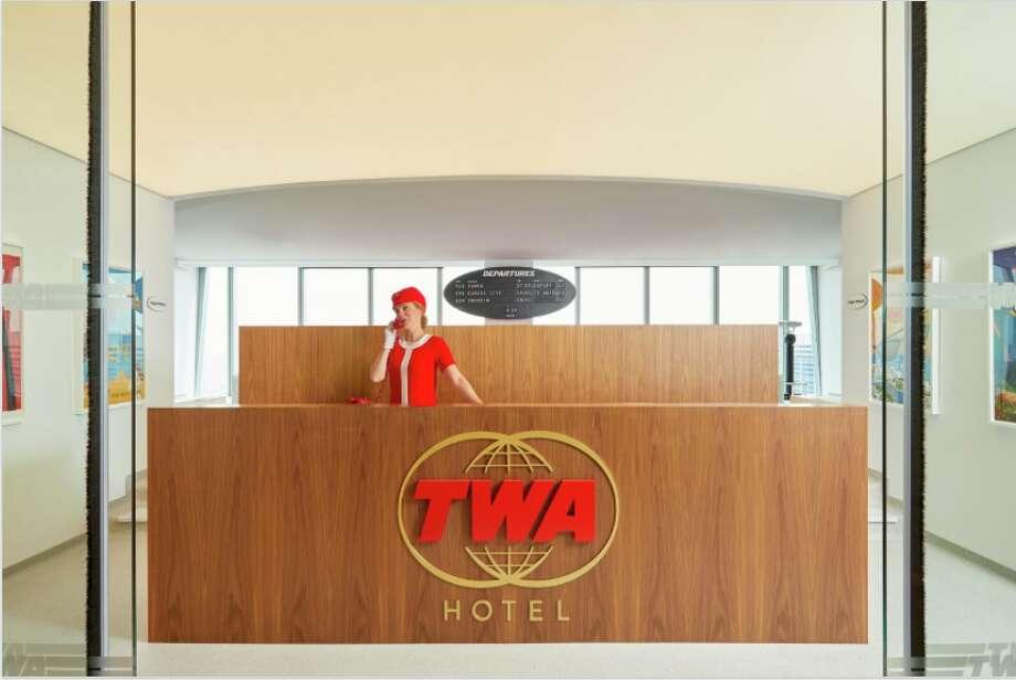 TWA hotel lounge at WTC1 in NYC