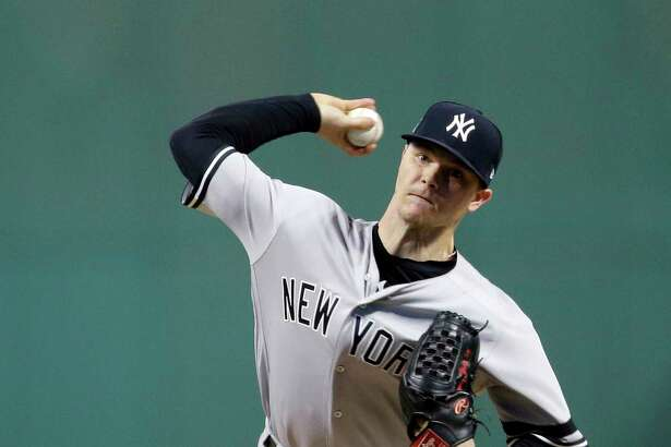Yankees pitcher Sonny Gray took the loss against the Indians in the ALDS opener on Oct. 5 in Cleveland. He allowed three earned runs on three hits and walked four in 31⁄3 innings.