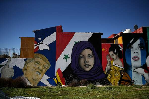 TIJUANA, MEXICO - JANUARY 27:  A mural of U.S. President Donald Trump is displayed on the side of a home on January 27, 2017 in Tijuana, Mexico.