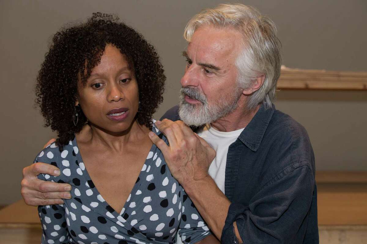 """Nehassaiu deGannes and John Hadden in WAM Theatre's """"The Last Wife"""" at Shakespeare & Company. (WAM Theatre publicity photo by Emma K. Rothenberg Ware.)"""