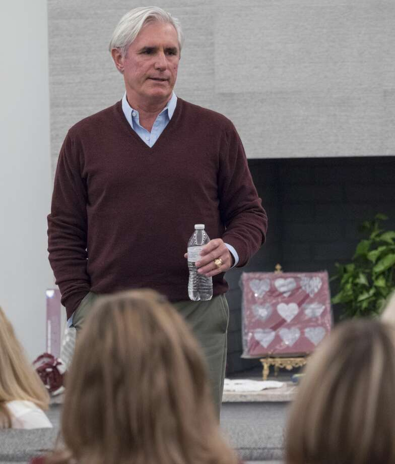 Concho CEO and Texas A&M Board of Regents Tim Leach speaks 10/16/17 to area Aggie Moms, and Dads, during a meeting in Midland. Tim Fischer/Reporter-Telegram Photo: Tim Fischer/Midland Reporter-Telegram